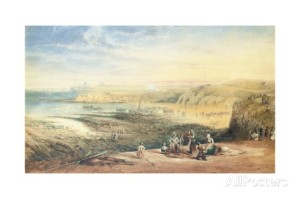 john-wilson-carmichael-cullercoats-looking-towards-tynemouth-northumberland-with-fisherfolk-in-the-foreground-1836